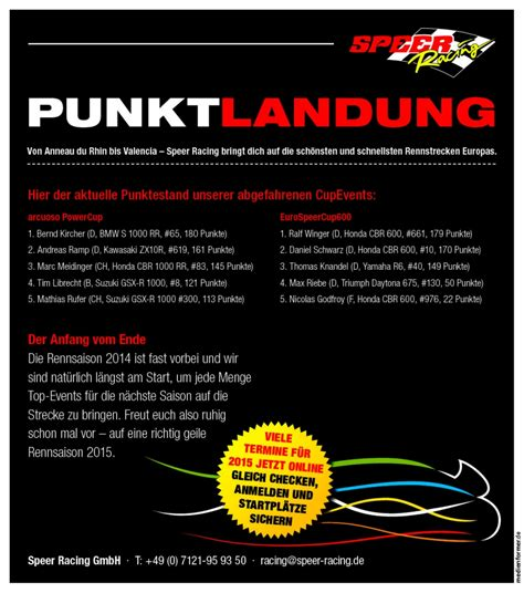 Motorrad Speer by Speer Racing Punktlandung Gaskrank Magazin