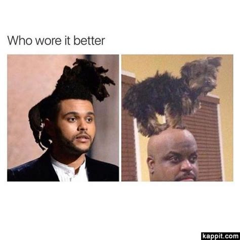 The Weeknd Hair Meme - who wore it better