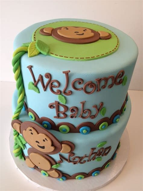 Monkey Baby Shower Theme by Baby Shower Monkey Theme Cakes Simple Home Design Decors