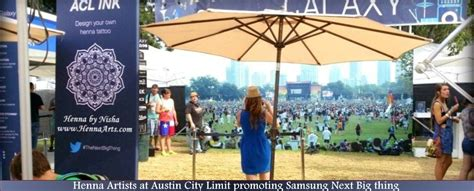 henna artist and entertainers for sxsw austin city limits