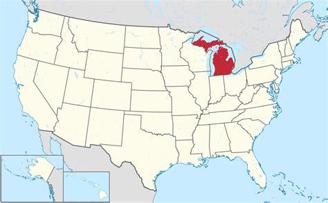 united states map michigan file michigan in united states svg wikimedia commons