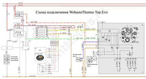 схема подключения автономного отопителя webasto thermo top evo