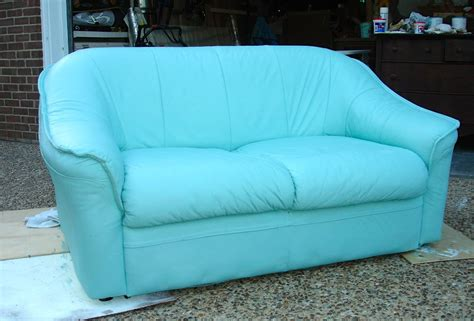 Leather Sofa Painted With Ascp Bellablakely Uptown Paint On Leather Sofa