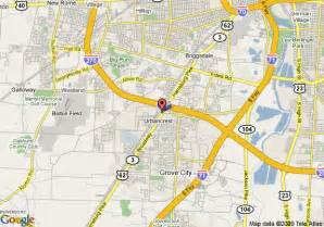 Grove City Ohio Map by Map Of Columbus Grove City Knights Inn Grove City