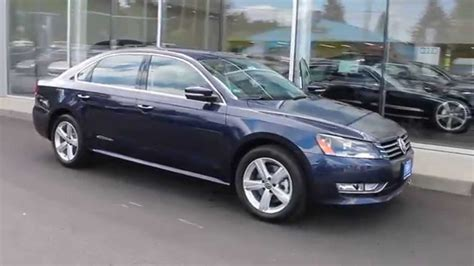 blue volkswagen passat 2015 volkswagen passat night blue metallic stock
