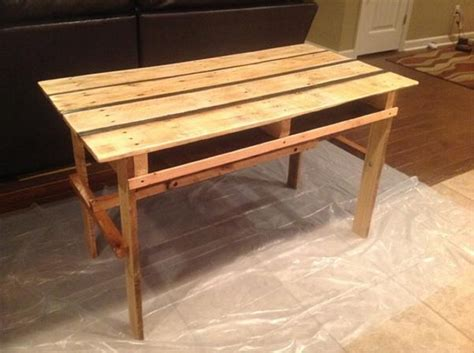 Plans To Build A Desk by Pallet Desk Ideas Pallet Ideas