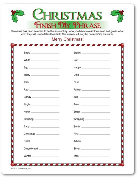 free printable christmas games with answers 17 best images about christmas games on pinterest