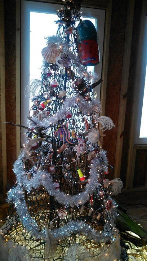 quot crab pot quot christmas tree fishmas tree decorated with