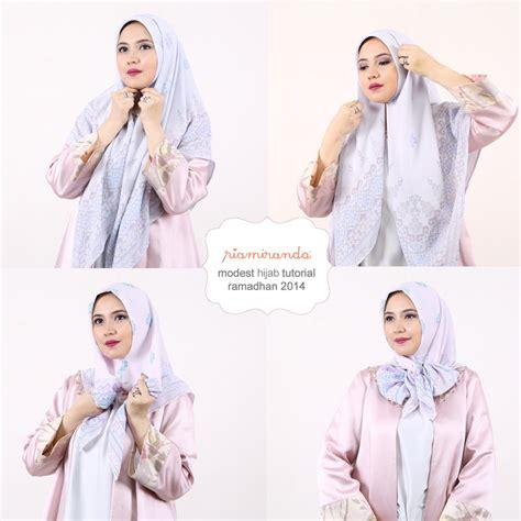 tutorial hijab segi empat ria miranda riamiranda diary