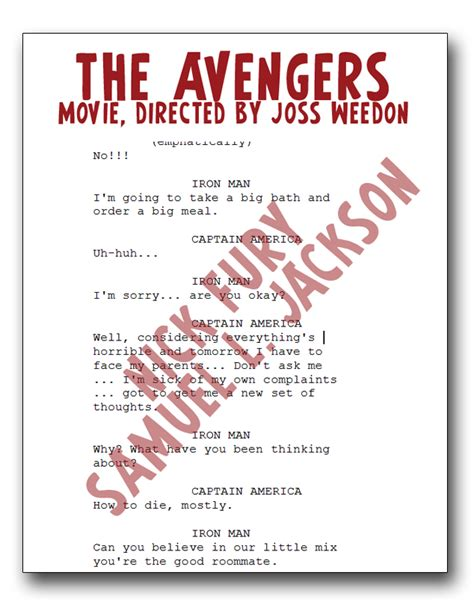 the room script comicbook crossfire sam jackson s missing script found