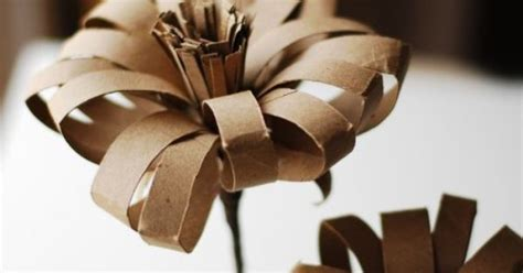 Crafts With Wrapping Paper Rolls - paper flower made from a recycled wrapping paper and
