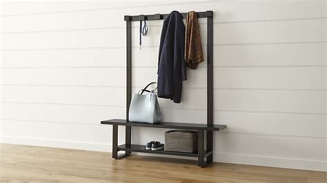 hallway coat rack and bench welkom hall tree bench with coat rack crate and barrel