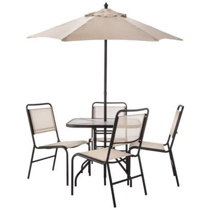 Room Essentials Oakview Dining Set Room Essentials Oakview 6 Sling Patio Dining