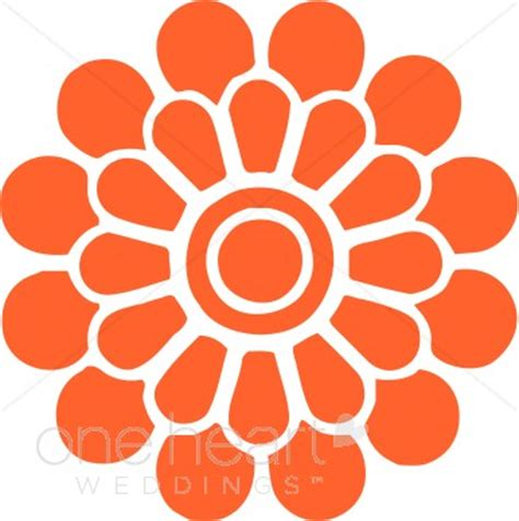 orange color variations orange modern flower clipart clipart color variations