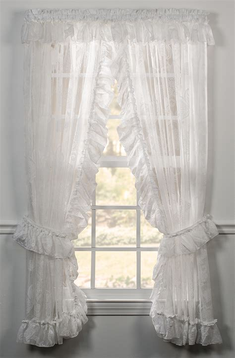 ruffled priscilla window curtains beverly ruffled priscilla panels ellis window treatments