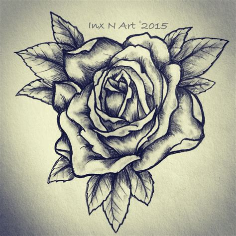 tattoo rose sketch sketch drawing by ranz