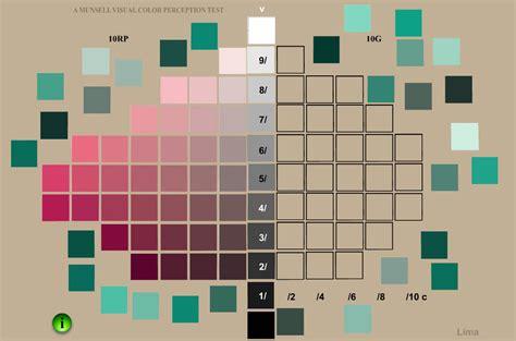 munsell color test munsell color test munsell color studies