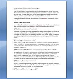 see once top 10 questions and how to answer them