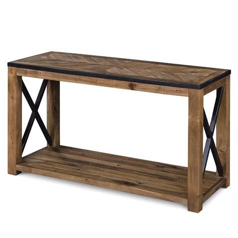 penderton rectangular sofa table with x cross stretchers