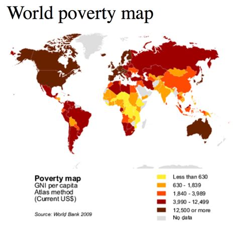 map us poverty world poverty map a part of one world