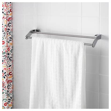 ikea towel storage kalkgrund towel rail chrome plated 63 cm ikea