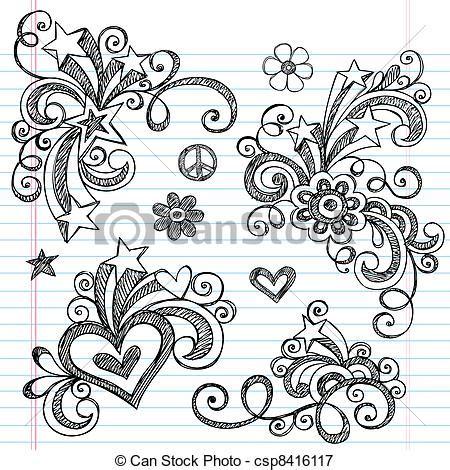 free doodle design elements vectors illustration of sketchy doodle design elements