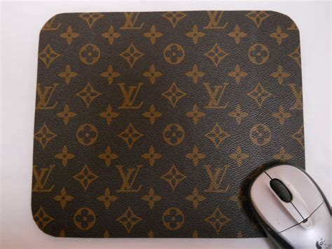 louis vuitton monogram leather fabric mouse by