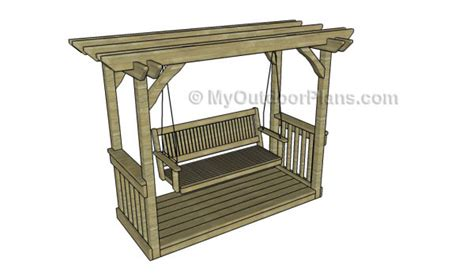free pergola swing plans 7 free garden swing plans free porch swing plans how