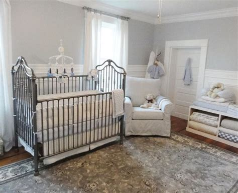 wrought iron crib  timeless   great focal point
