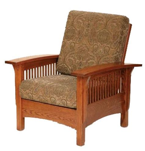 mission style recliner chair classic mission style features heavy legs and arms 2 quot wide slats in oak brown maple cherry qswo