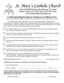 Godparent Certification Letter sample business confirmation letter forms and templates