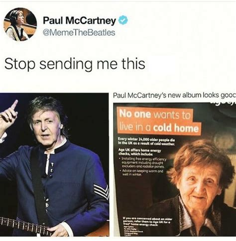 stop sending   meme  paul mccartney comics
