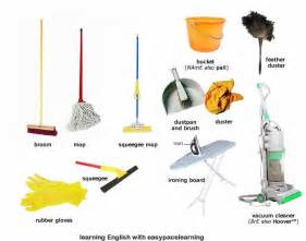 home cleaning machine cleaning equipment learning the vocabulary