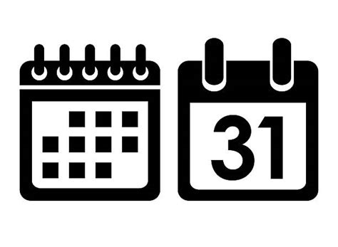 Calendar Icon Vector Royalty Free Calendar Icon Pictures Images And Stock