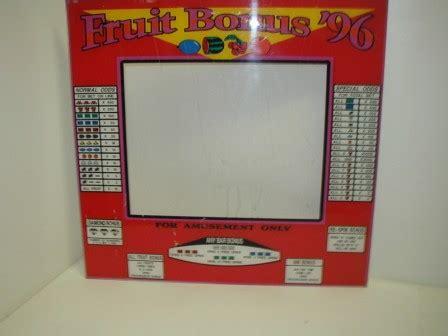 fruit 96 bonus 8 liner monitor glass