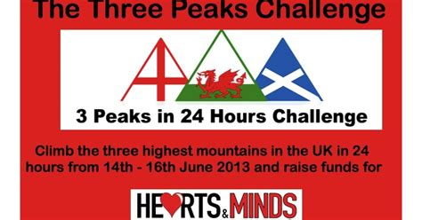 hearts and minds challenge hearts and minds a 3 peaks challenge for hearts minds