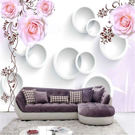 Wallpaper Motif Bunga Cantik by 65 Desain Wallpaper Dinding Ruang Tamu Minimalis Terbaru