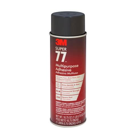 3m spray upholstery adhesive 3m super 77 16 75 fl oz multi purpose spray adhesive 77