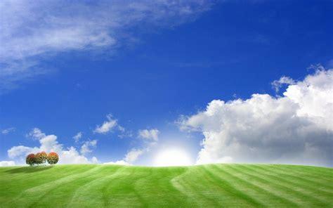 Green Hill With Blue Sky Landscape Frbclagrange Org Blue Sky Landscape