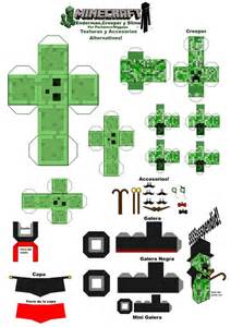 Minecraft Craft Paper - minecraft slime and creeper pengiun printables