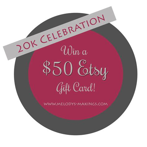 Win Etsy Gift Card - win a 50 etsy gift card melody s makings