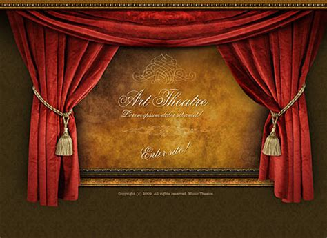 theater template theatre easy flash template id 300110273