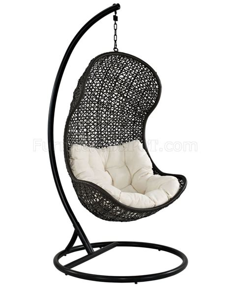 swing chairs for patio parlay swing outdoor patio lounge chair by modway