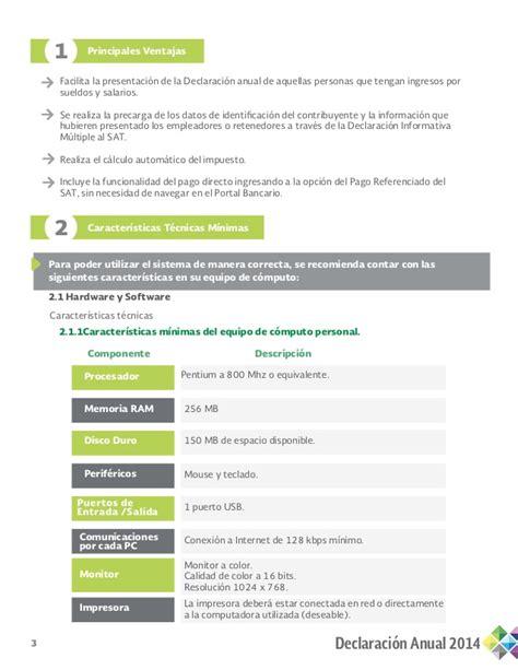 gua para el llenado de la declaracion informativa de guia llenado asalariados 2014