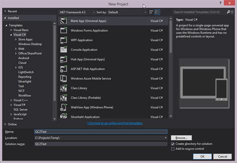 android templates for visual studio 2013 vincenth on net 187 how to build xamarin ios and android