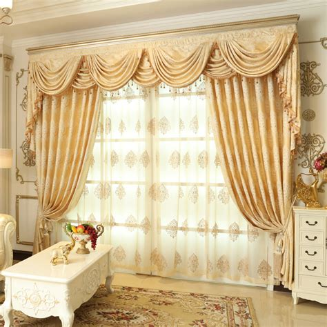 floral jacquard curtains 2016 weekend blue european luxury semi blackout curtains