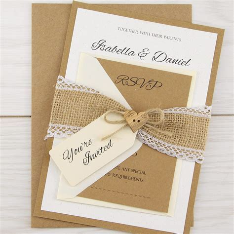Wedding Invitation: Interesting Rustic Wedding Invitations