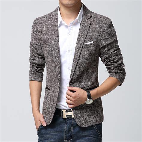 Blazer Wanita Blazer Formal Resmi Polos Blazer Jas Wanita Jas Warna s style new brand blazer linen casual suit mens blazers slim fit regular single