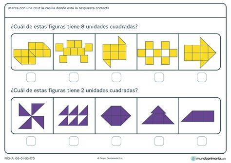 preguntas cuadradas juego matematico ficha de contar unidades cuadradas para ni 241 os de primaria
