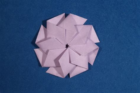 Origami Octagon - origami images of single sheet geometric models folded